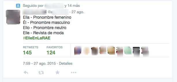 #ElleEnLaRae tweet controvertido